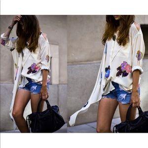 Acne Floral print blouse